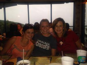 The trio... Mandy Vasek, Kim Hornsby, and Mandy Wells (The Oasis, Austin, TX, summer 2014)
